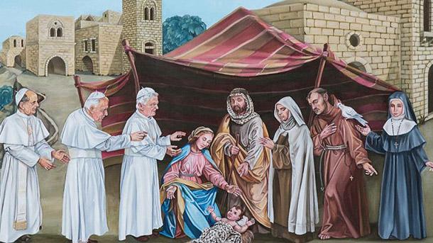 Papal Mass Nativity Scene