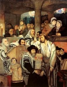 Jews Praying in Syn