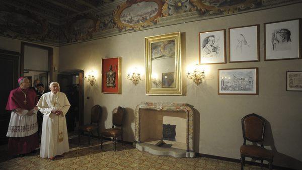 POPE BENEDICT XVI VISIT HOUSE WHERE POPE PAUL VI WAS BORN IN CONCESIO, ITALY