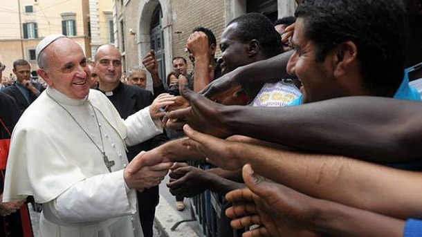 Pope Francis meets with young refugees before his departure from Turkey