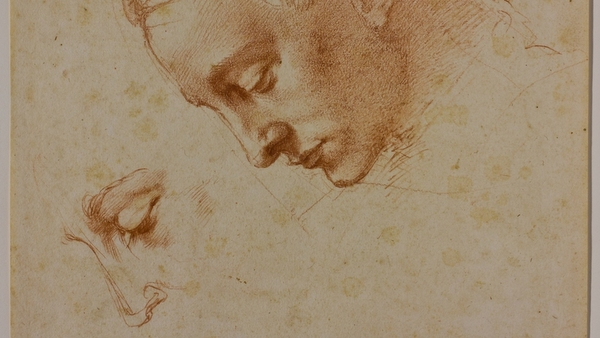 Studies for the head of Leda (small)