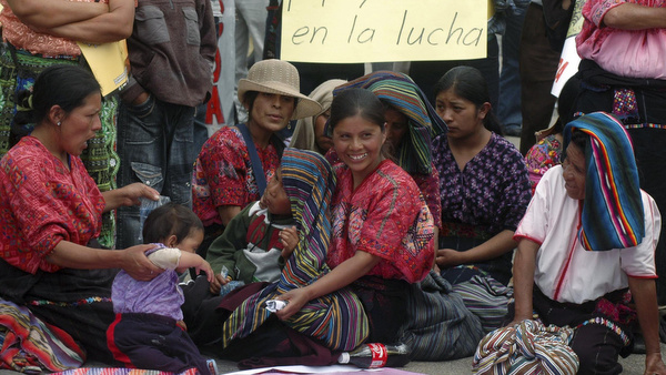 INDIGENOUS FARMERS TAKE PART IN PROTEST IN GUATEMALA