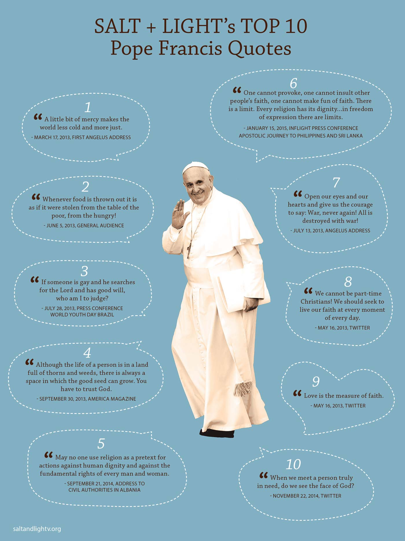 Sls 10 Favourite Pope Francis Quotes Salt And Light Catholic