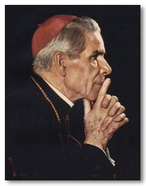 Fulton Sheen praying