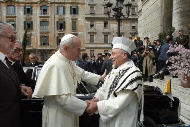 JP II Rabbi Toaff 1986