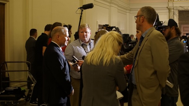 Media interview Oklahoma District Attorney David Prater.