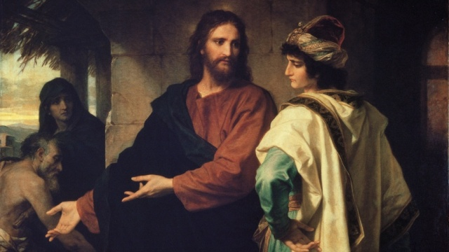 Jesus and the Rich Young Man cropped