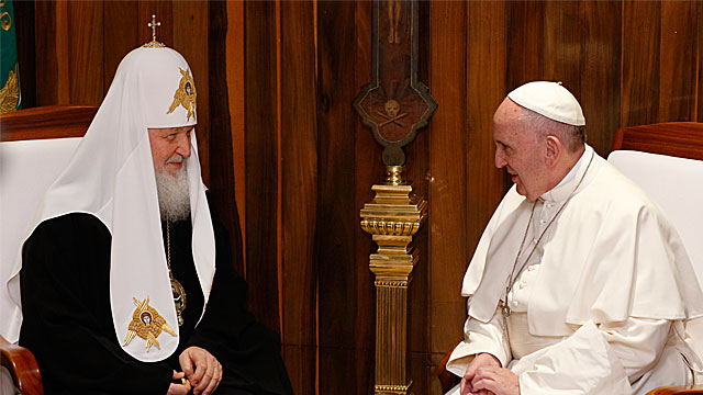 Pope Francis and Russian Patriarch Kirill's Joint Declaration