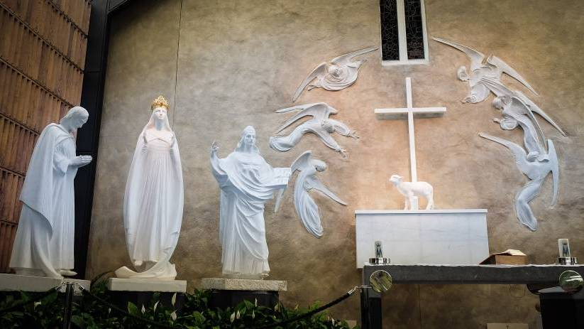 The Apparition Chapel at Knock Shrine, Co Mayo, Ireland
