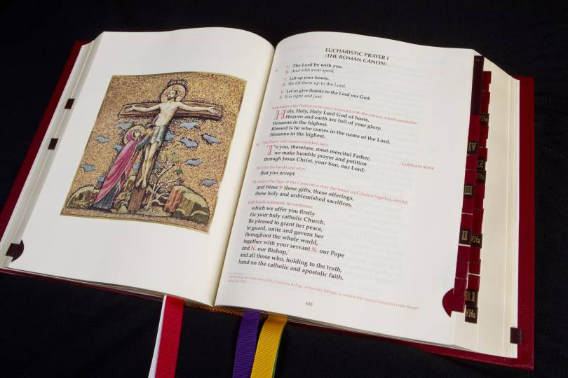 Roman Missal open to Eucharistic Prayer