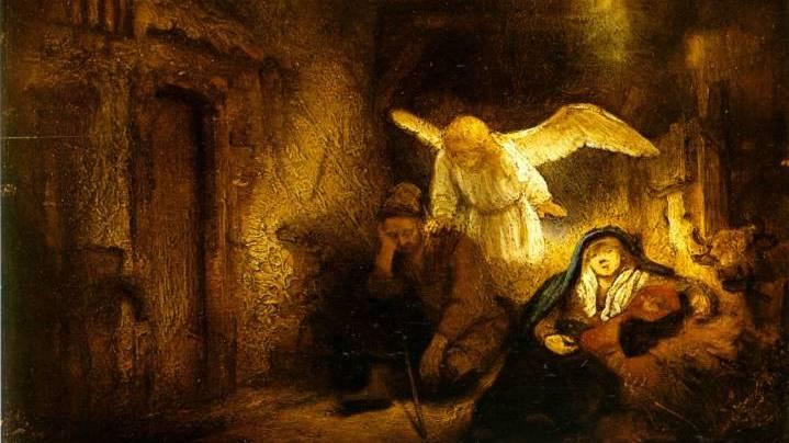 Joseph's Dream by Rembrandt van Rijn (1606-1669) and workshop