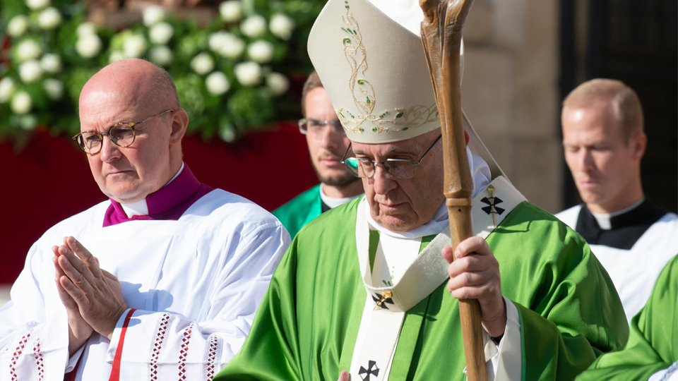 Pope Francis at the opening Mass for the Synod of Bishops in Rome