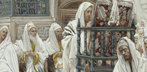 Jesus in the synagogue by James Tissot