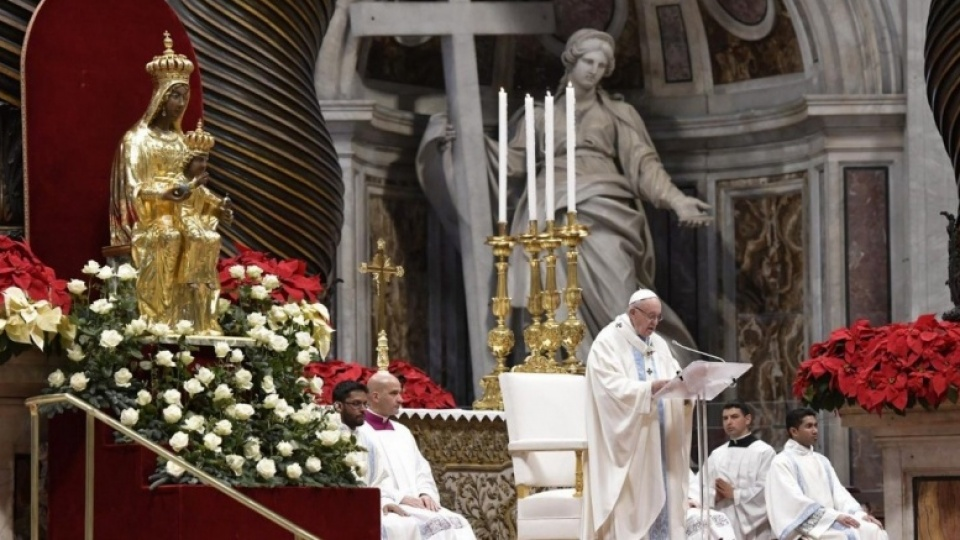 Pope Francis' Homily for Solemnity of Mary, Mother of God and the 52nd World Day of Peace