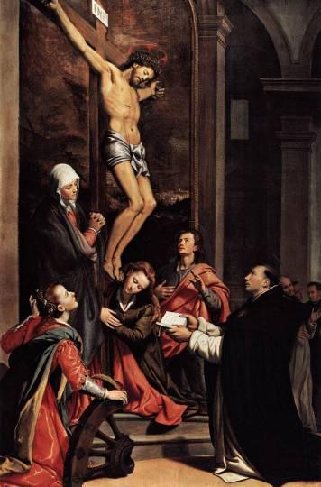 Vision of St Thomas Aquinas by Santi di Tito