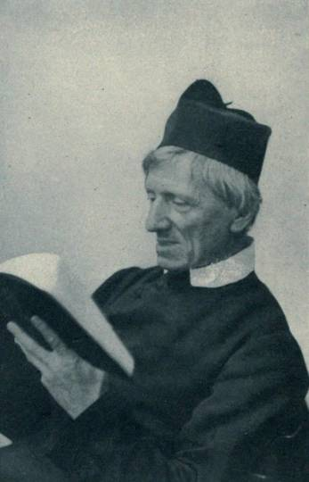 John Henry Newman reading