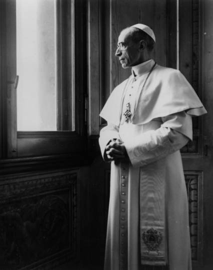 Pope Pius XII at the Vatican in a file photo dated March 15, 1949. (CNS file photo)