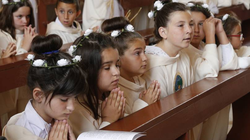 Pope Francis' homily at First Communion Mass in Bulgaria