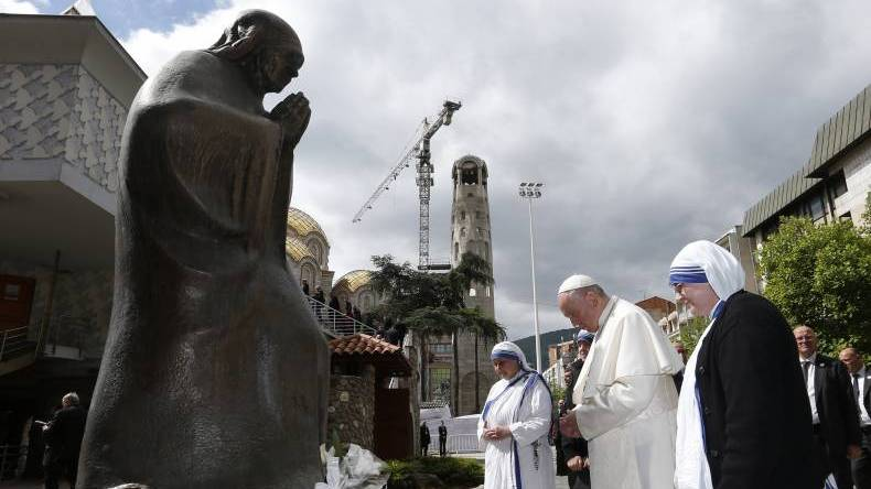 Pope Francis' prayer at the Memorial of Mother Teresa in North Macedonia