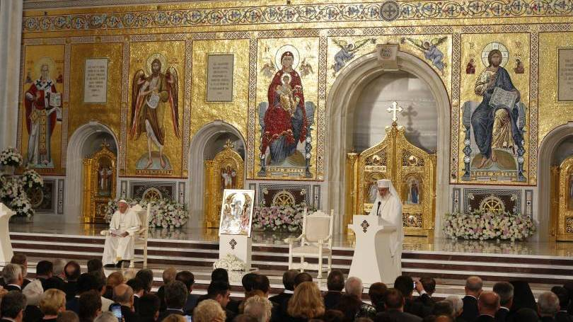 Pope Francis' meditation on the Our Father at the Romanian Orthodox Cathedral in Bucharest