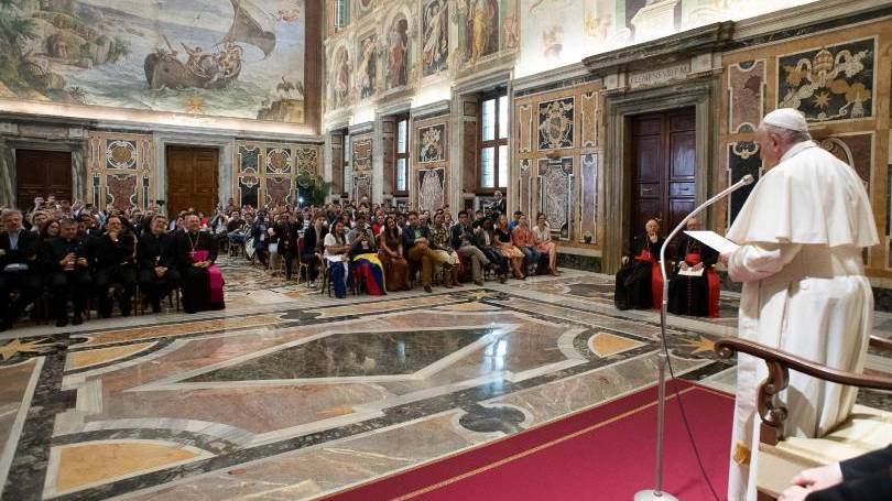 Pope Francis addresses youth forum in Rome, June 2019