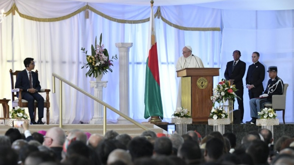 Pope in Madagascar: Address at the Monastery of the