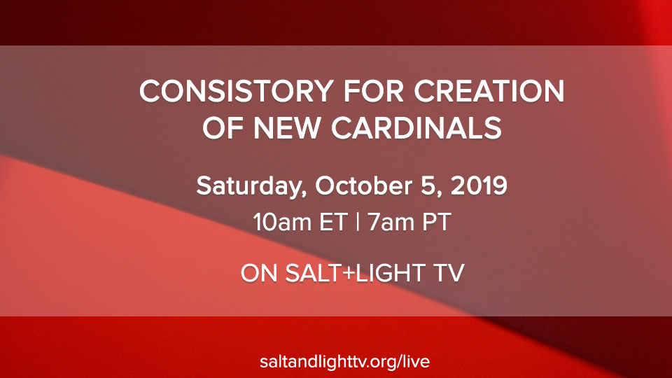 LIVE: Consistory for the Creation of New Cardinals 2019 | Salt and Light Catholic Media Foundation