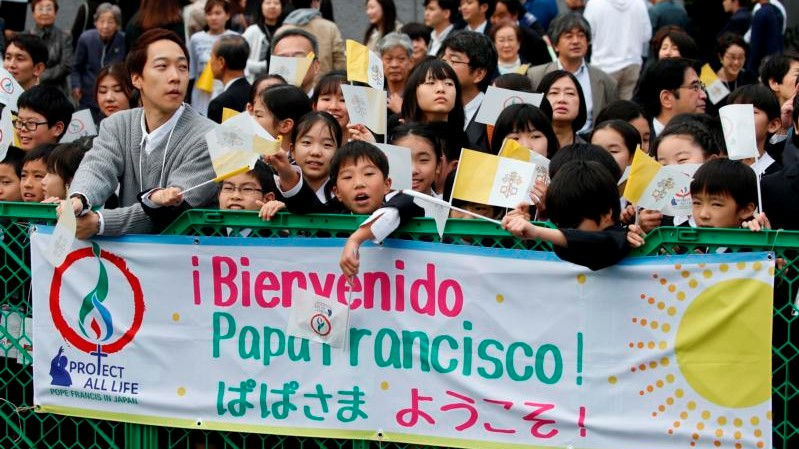 Pope in Japan: Address to young people