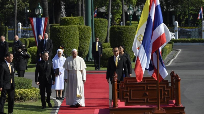Pope in Thailand: Address to authorities, civil society, and the diplomatic corps