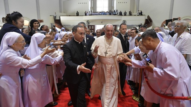 Pope in Thailand: Address to priests, religious, seminarians, and catechists