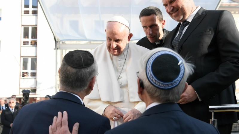 Pope Francis in Slovakia: Meeting with the Jewish community