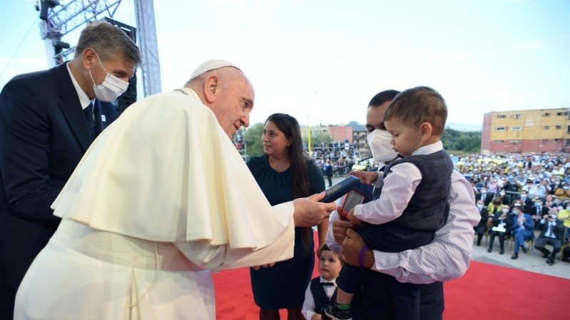 Pope Francis in Slovakia: Meeting with the Roma community