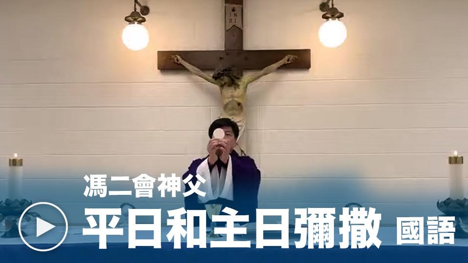 國語主日及平日彌撒 - 由天主教多倫多總教區嘉模聖母堂助理司鐸馮二會神父提供