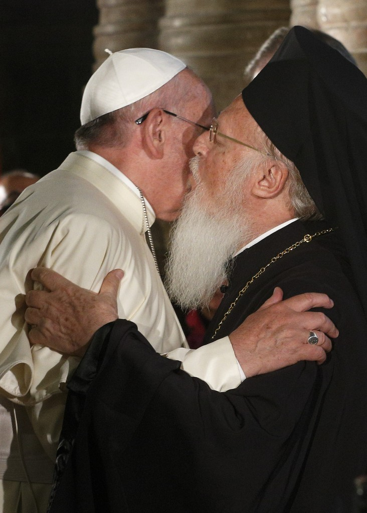 Pope Francis and Ecumenical Patriarch Bartholomew attend ecumenical celebration in Church of the Holy Sepulcher