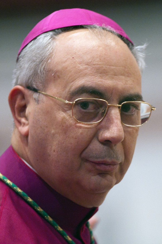 File photo of Archbishop Dominique Mamberti, who was one of 20 new cardinals named by Pope Francis