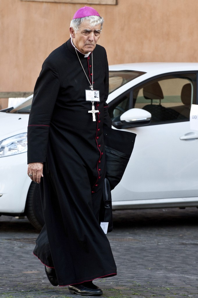 File photo of Archbishop Edoardo Menichelli of Ancona-Osimo, Italy, who was one of 20 new cardinals named by Pope Francis