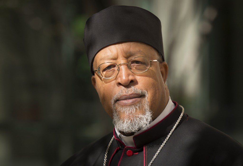 File photo of Ethiopian Archbishop Berhaneyesus Demerew Souraphiel of Addis Ababa, who was one of 20 new cardinals named by Pope Francis