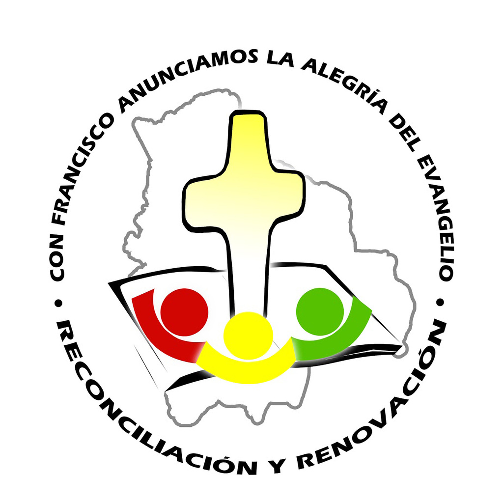 This is the official logo for the July 8-10 visit of Pope Francis to Bolivia.