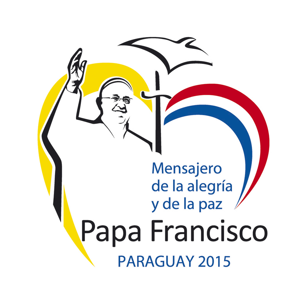 This is the official logo for the July 10-12 visit of Pope Francis to Paraguay.