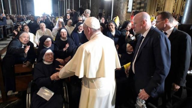 教宗接見利古里亞大區聖職人員