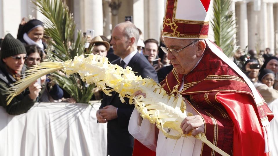 教宗主持聖枝主日禮儀:你們要歡呼基督的喜樂