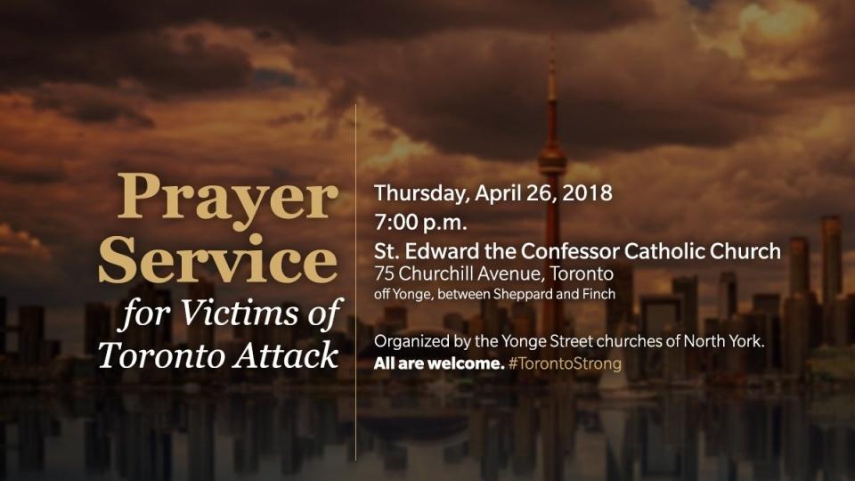 悼念多倫多貨車撞人事件受害者祈禱會