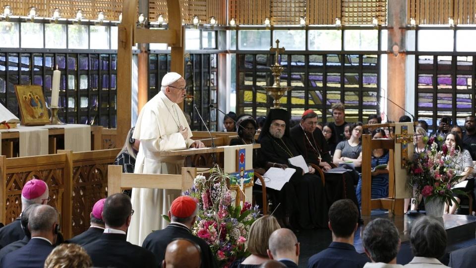 教宗主持日內瓦大公祈禱