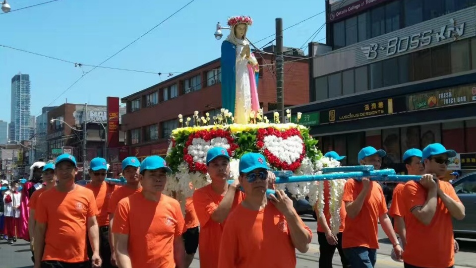 多倫多嘉模聖母堂舉行第7屆唐人街聖母出遊
