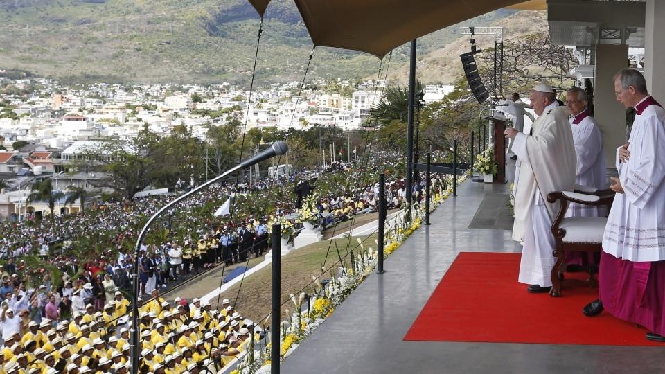 教宗在毛里求斯主持彌撒