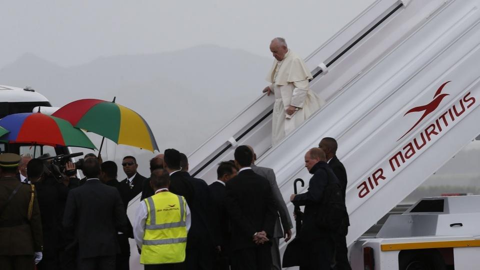 教宗會見毛里求斯當局