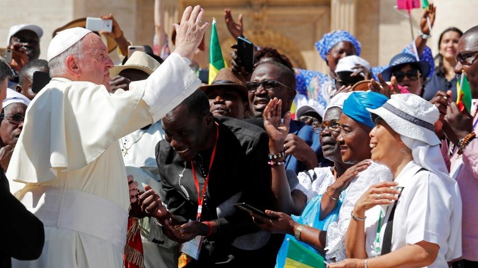 教宗公開接見:基督的福音是帶給非洲人民兄弟情誼、正義與和平效力最大的酵母