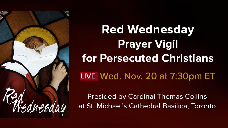 「紅色星期三」活動 – 與受迫害基督徒同行