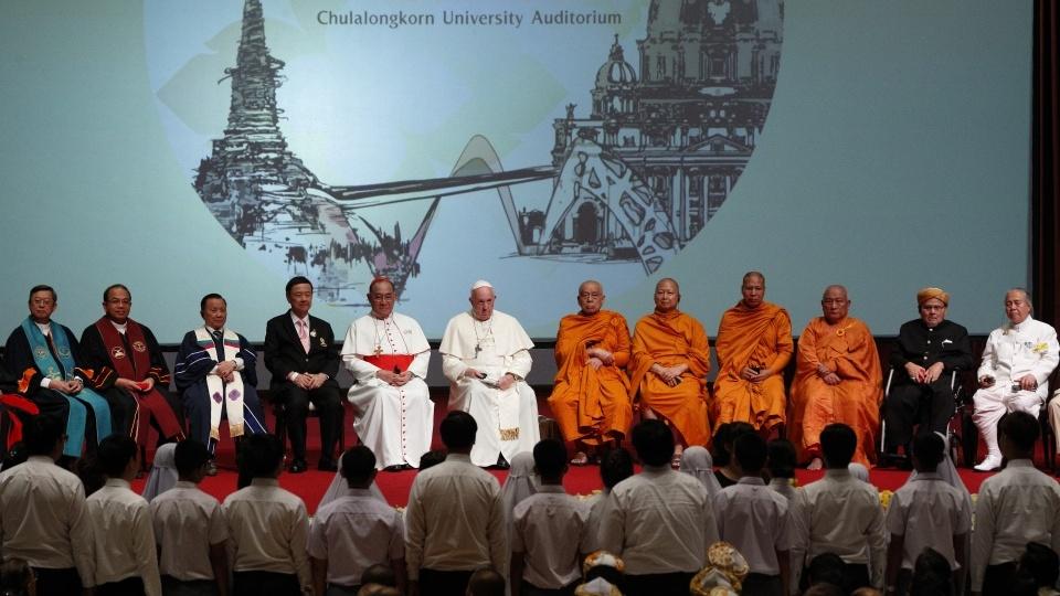 教宗接見泰國各宗教領袖