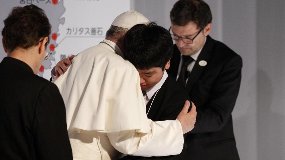 教宗接見日本三重災難受害者